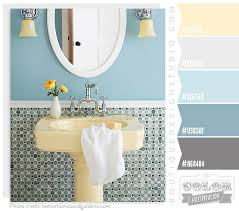 yellow gray blue bathroom